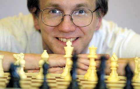 Dana at the chess board